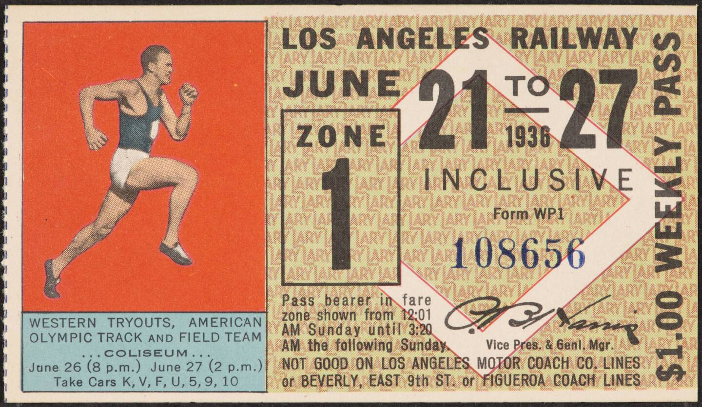 1932 Los Angeles Railway pass