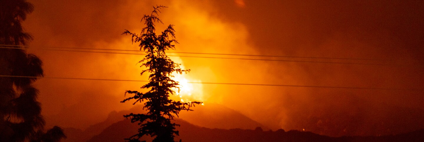The Bobcat Fire burns above Monrovia, California, September 8, 2018. |Photo by Kyle Grillot for The Washington Post via Getty Images