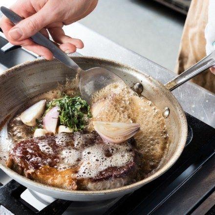 Butter-Basted Rib-Eye Steak