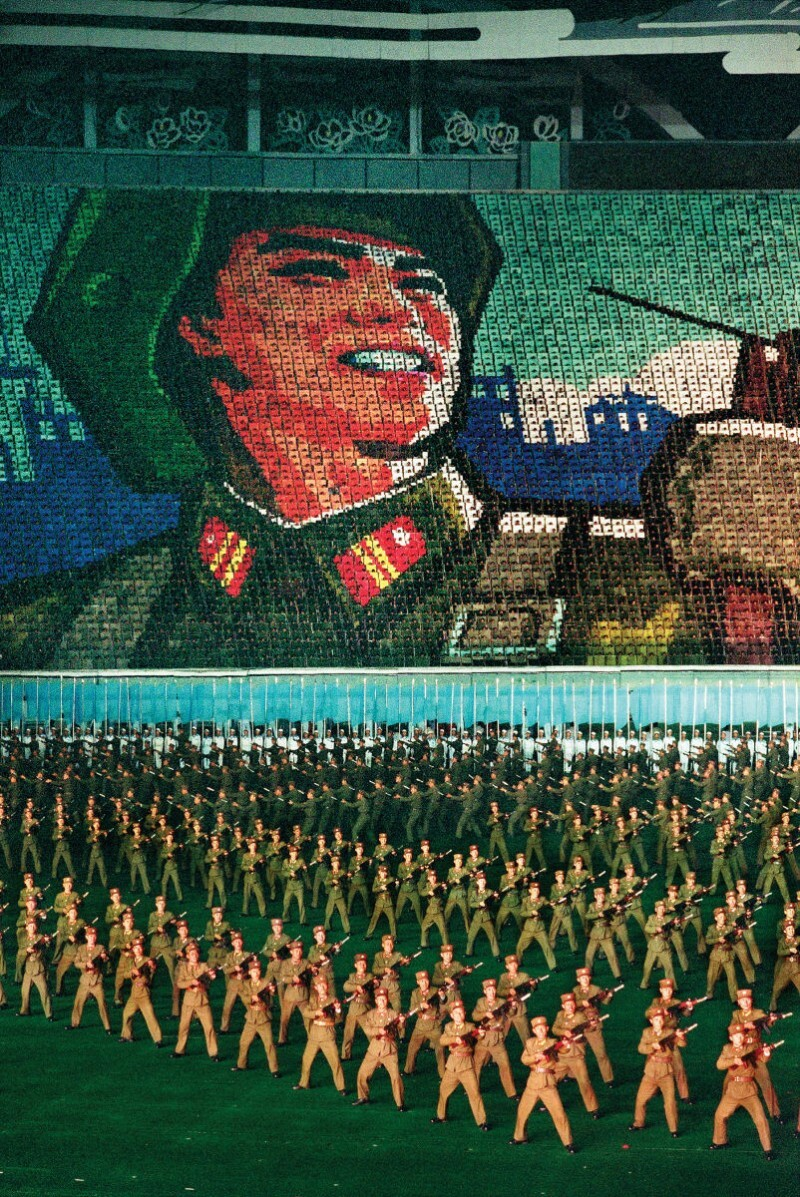 The Arirang Mass Games in May Day Stadium in Pyongyang, North Korea.   Mark Edward Harris/Getty Images