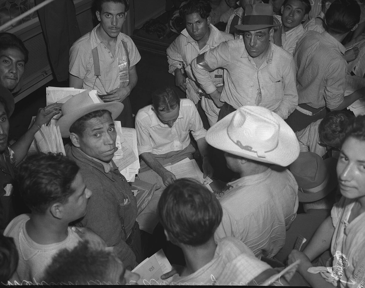 In the Bracero program, Mexican nationals came to Los Angeles by train to fill wartime labor shortages on farms. | Courtesy of Angel City Press