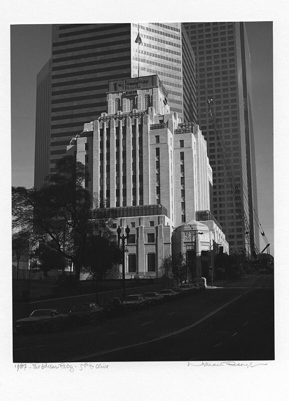 The Edison Bldg., 5th and Olive St., 1987 | Photo: William Reagh.