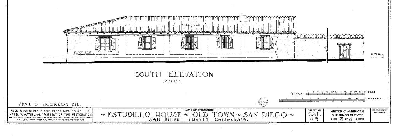 Casa de Estudillo floor plan (primary)