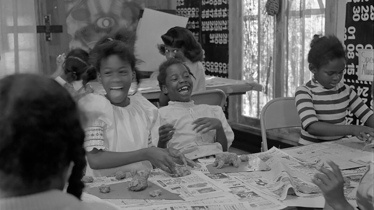 Students enjoyed a variety of art making activities and classes at the Happening House. | Courtesy of Willie Ford, Jr. and the Compton Communicative Arts Academy Collection, Special Collections and Archives, John F. Kennedy Memorial Library, CSU L.A.