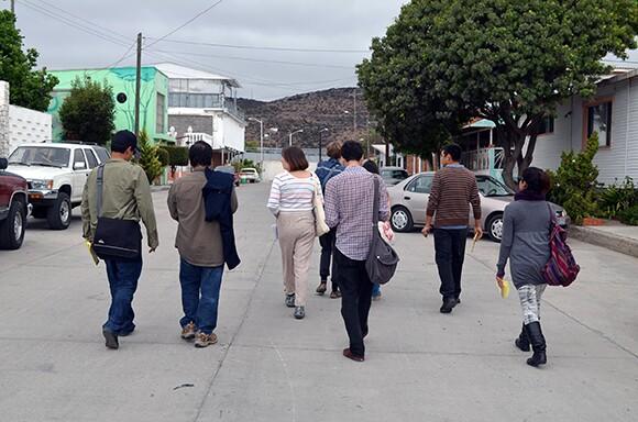 Drifting towards the border fence. | Photo: Courtesy of Misael Diaz.
