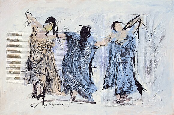 """Three dancers"" | Reza Sepahdari"