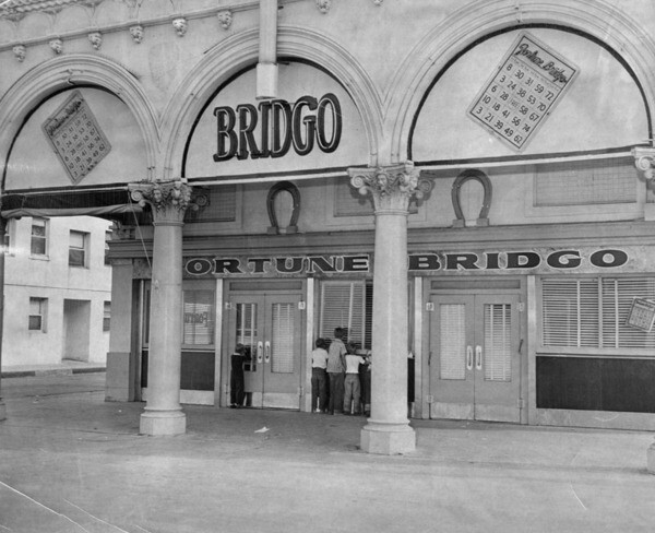 Bountiful Beach Bridgo parlor building, future home of The Gas House, 1948   Los Angeles Public Library