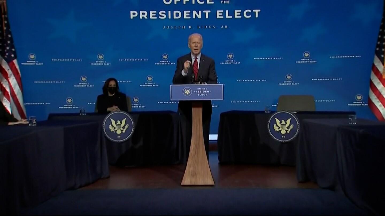 Joe Biden speaks on his plan to control the coronavirus pandemic.