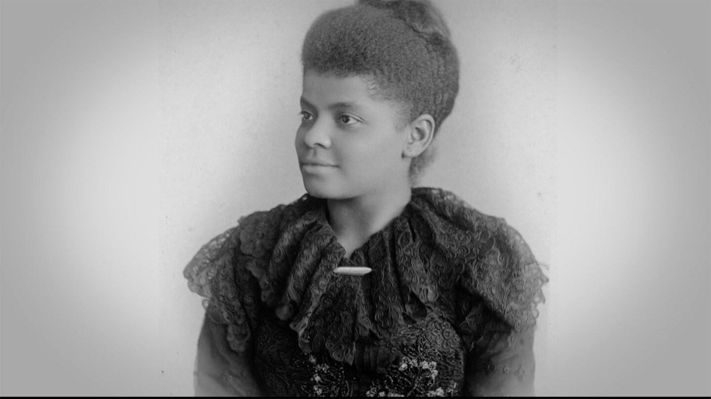 Black and white photo of Ida B. Wells