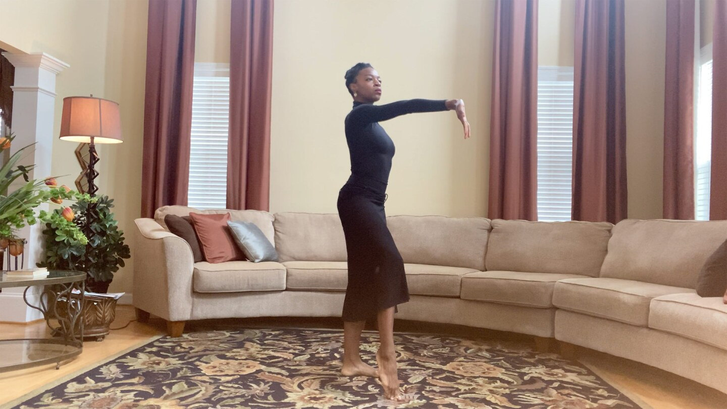 Dancer Leslie Andrea Williams rehearses.   Courtesy of Martha Graham Resources, a division of the Martha Graham Center of Contemporary Dance, Inc.