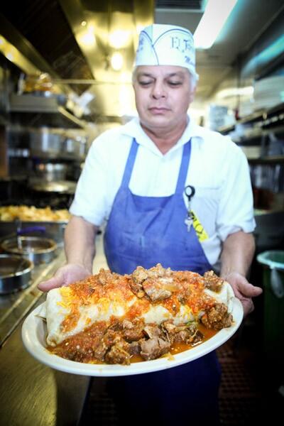 The Hollenbeck Burrito at El Tepeyac Cafe
