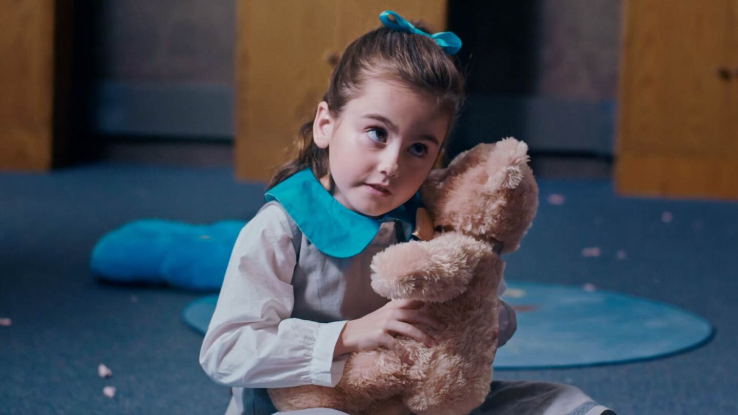"A girl with a teddy bear | Still from ""Teddy Mate"" Fine Cut 2019"