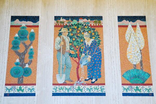 Mosaic by Millard Sheets studio in Riverside, Calif. I Photo by Bebe Kropko
