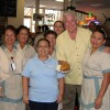 Huell Howser and Servers at Philippe