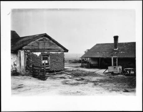 A 1924 photo of the Rancho La Cienega Adobes. Courtesy of USC, California Historical Society Collection