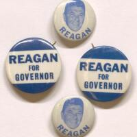 Reagan 1966 pins