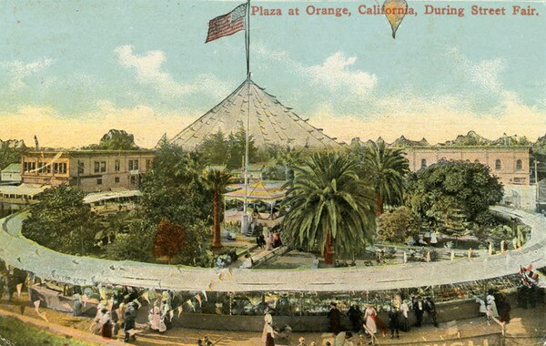 Orange hosted its first street fair in 1910 -- a tradition that was revived in 1973 and continues to this day. Courtesy of the Orange Public Library Local History Collection.