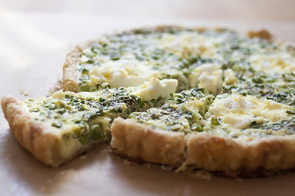 Mint, Pea, and Ricotta Quiche | Photo by Maria Zizka