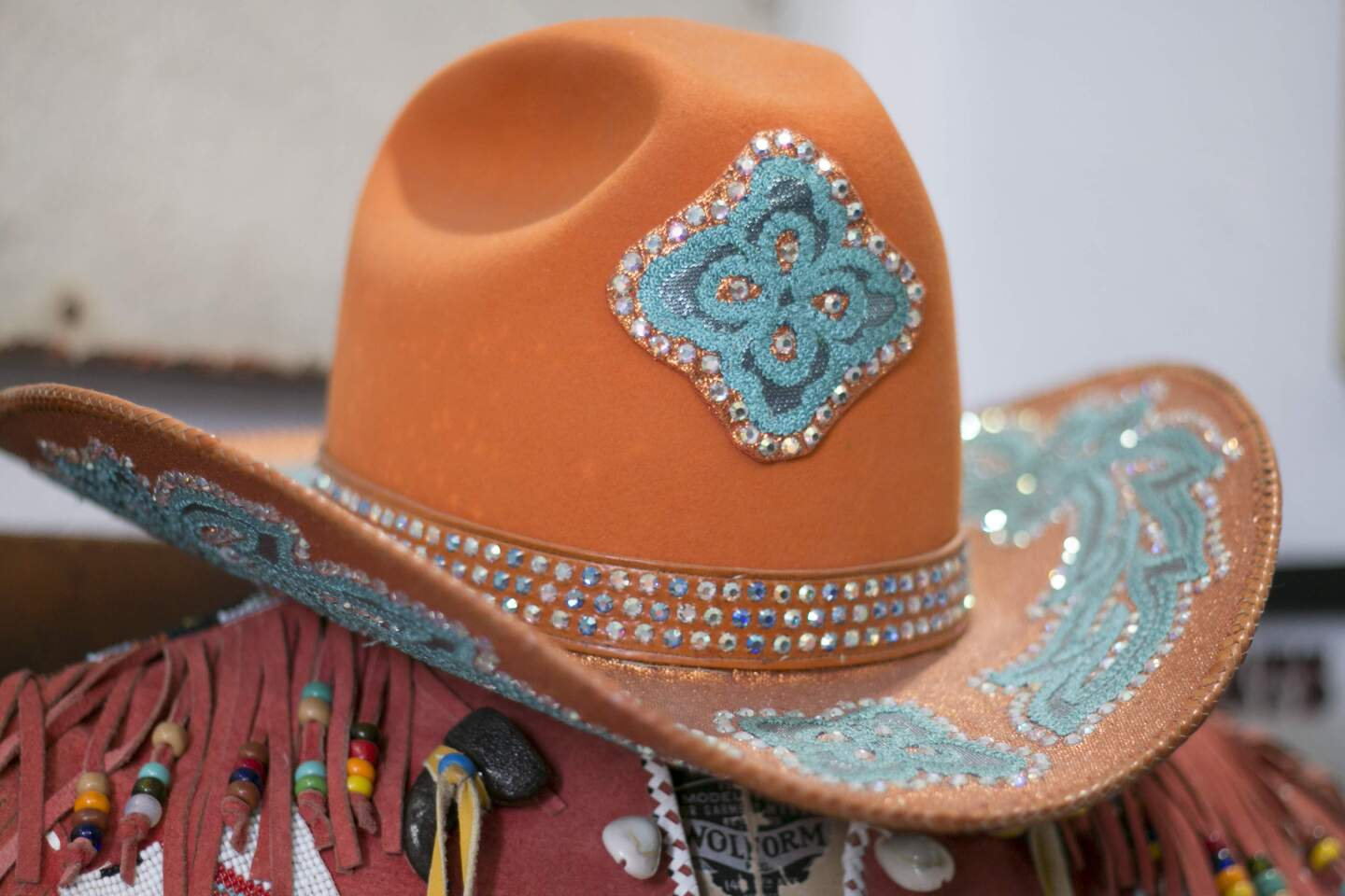 A studded cowboy hat from Nudie's | Carren Jao