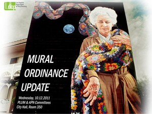 Cover image of a city report on murals presented Wednesday   Photo courtesy City of LA Planning Department