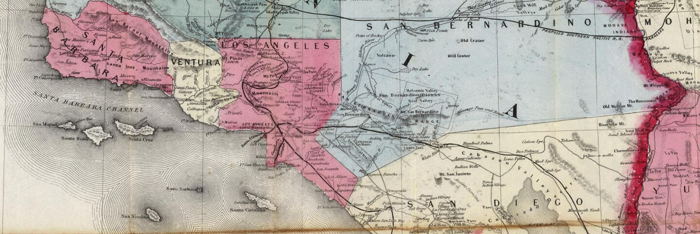 Los Angeles County, before secession (1876)