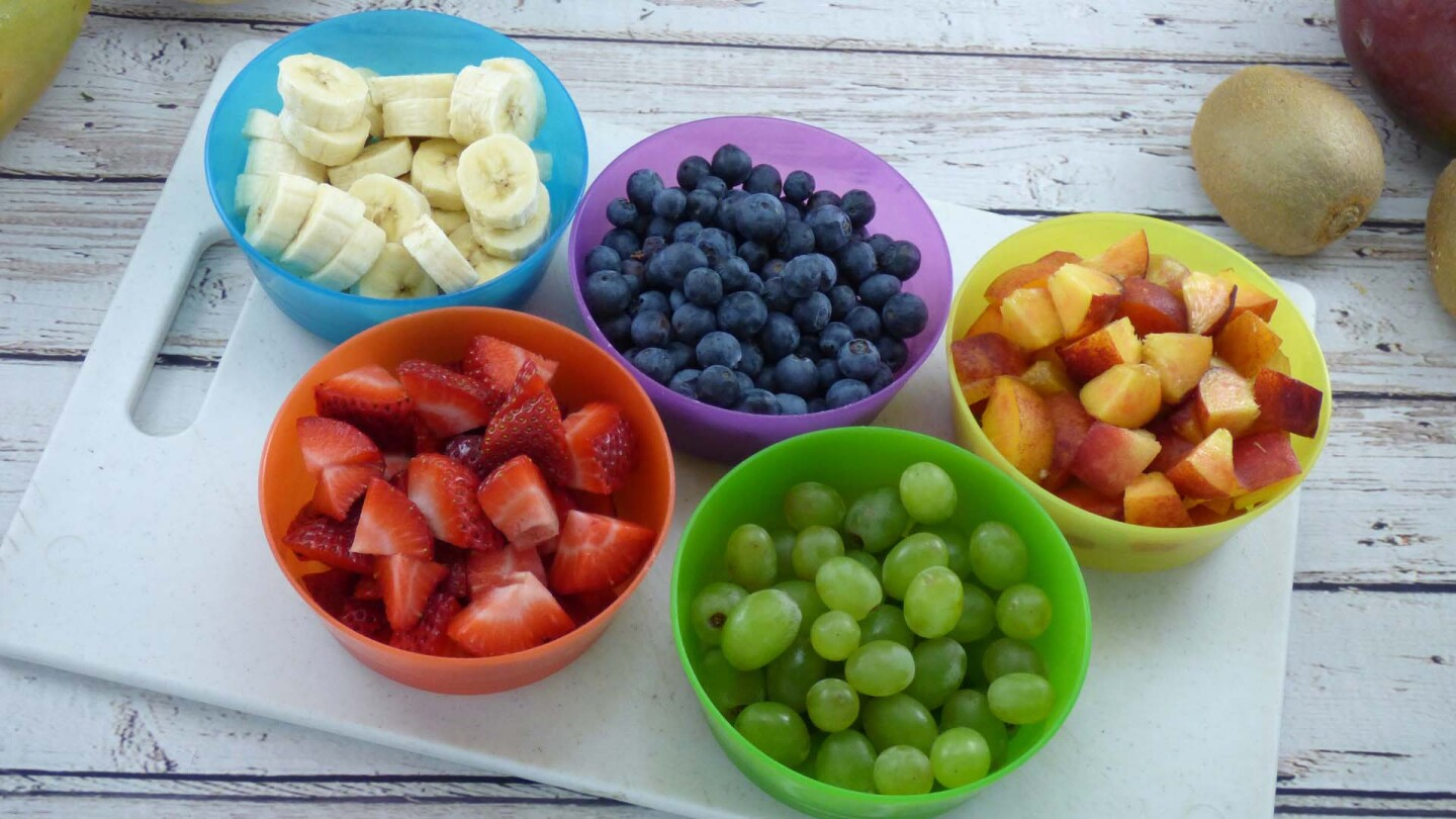 Bowls full of fruit.