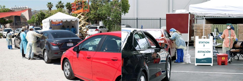 Two drive-thru COVID-19 testing sites | iStock