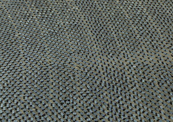 Hundreds of solar mirrors at the Ivanpah solar energy plant.