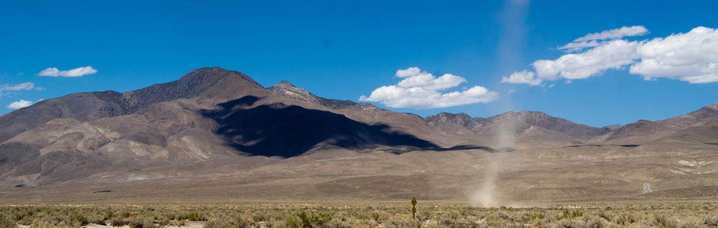 A dust devil moves across the floor of the Owens Valley. Photo: Elaine With Grey Cats, some rights reserved