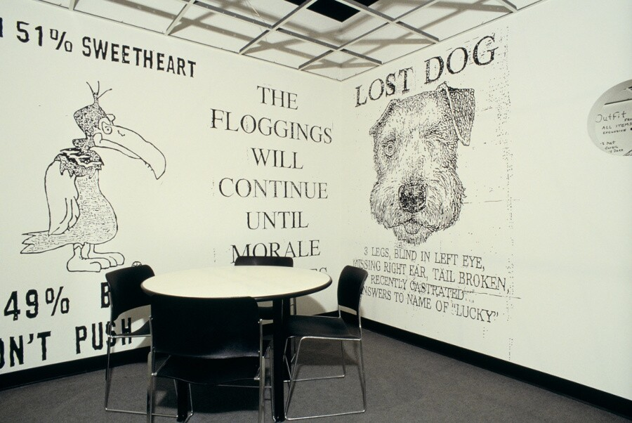 Installation view of Helter Skelter L.A. Art in the 1990s, January 26 – April 26, 1992
