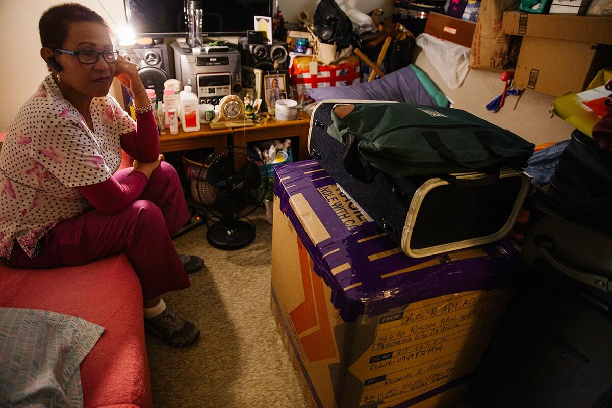 Josephine Biclar at her apartment. | Samanta Helou Hernandez