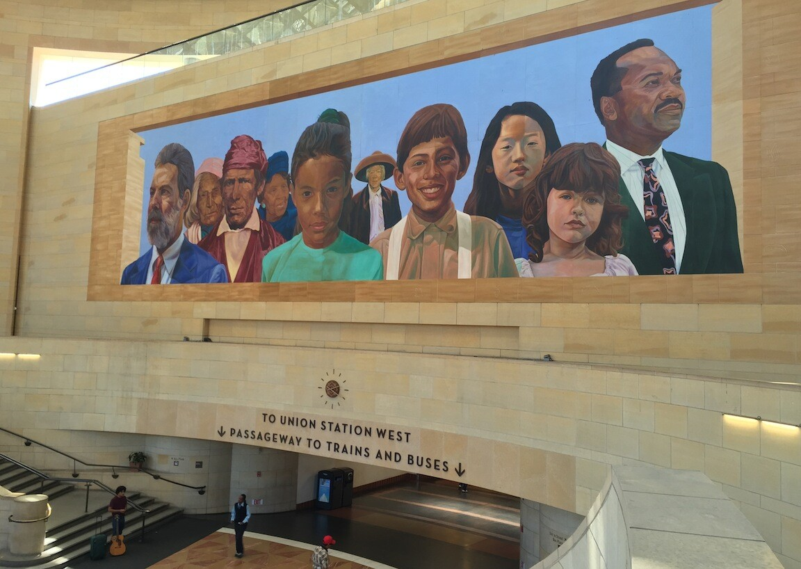 """""""City of Dreams/River of History"""" by Richard Wyatt and May Sun at Union Station"""