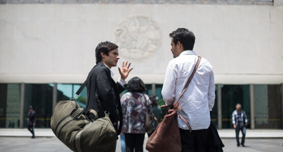 """Museo"" starring Gael García Bernal and Leonardo Ortizgris. Image courtesy of Kino Lorber."
