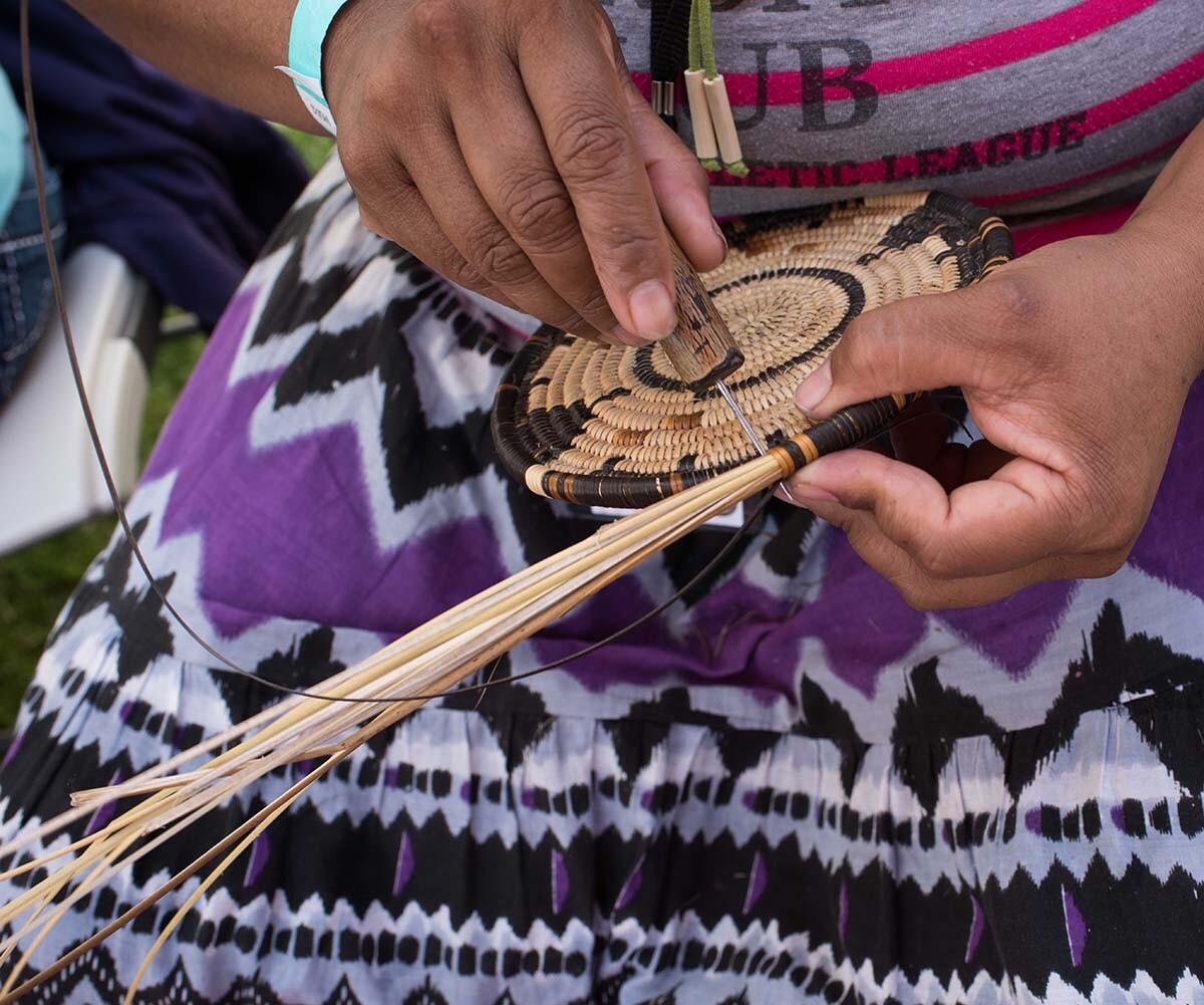Rosa Maria Morales Domingeuz making a necua craft store doll | Rose Ramirez