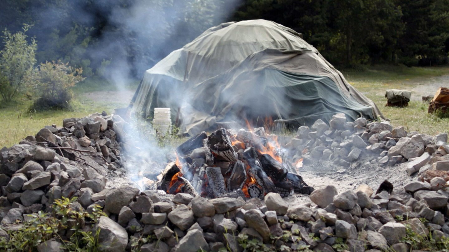"""A sweat lodge at Potawot Health Village. 