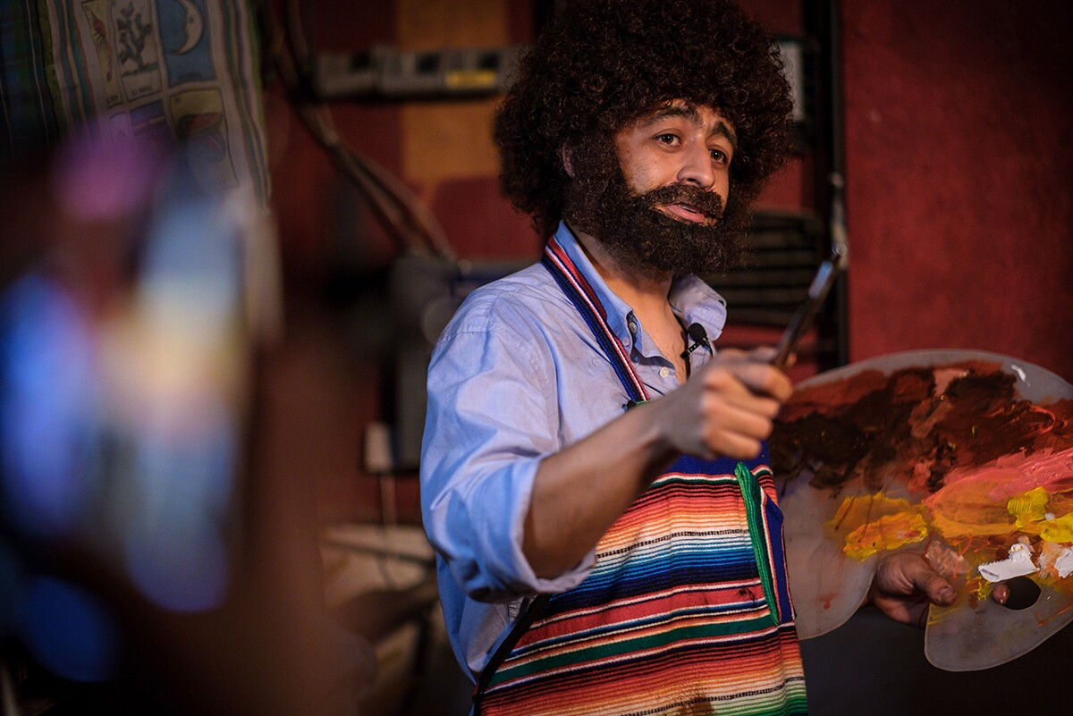 Beto RosSela makes his way into a SELA landscape. Paint a SELA landscape alongside him at the virtual fest. | Visual Eyes LA