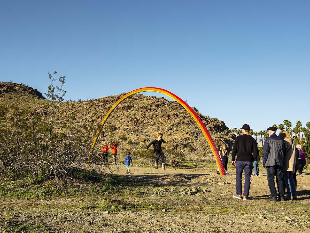 Desert X installation view, Pia Camil, Lover's Rainbow, 2019    Lance Gerber, courtesy of Desert X