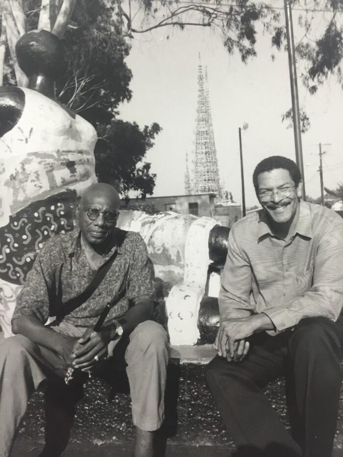John Outterbridge and Mark Steven Greenfield circa 1995 - photo by Sammy Davis (NOT Jr.). Photo courtesy of Mark Steven Greenfield