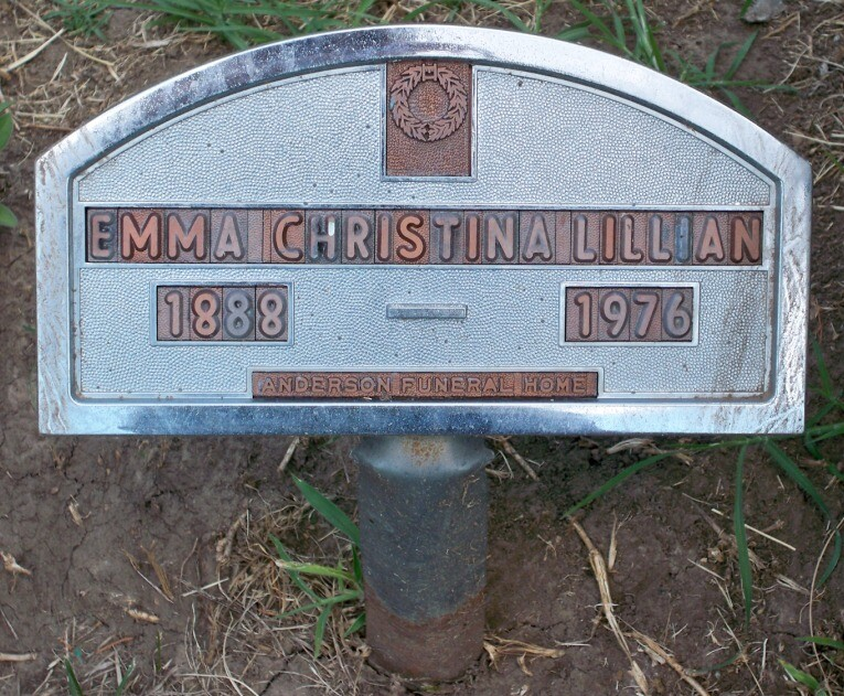 Christina Lillian gravemarker | Courtesy of Evan and Sharon Lindquist