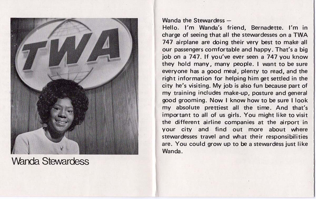 Catalog for the Wanda doll showcasing her career as a stewardess | Courtesy of Billie Green