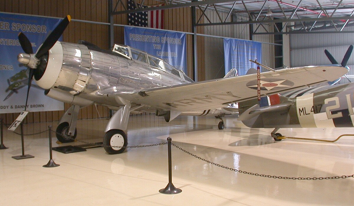 Republic AT-12 Guardsman at the Planes Of Fame Museum, Chino | Greg Goebel/Wikimedia Commons (CC BY-SA 2.0)