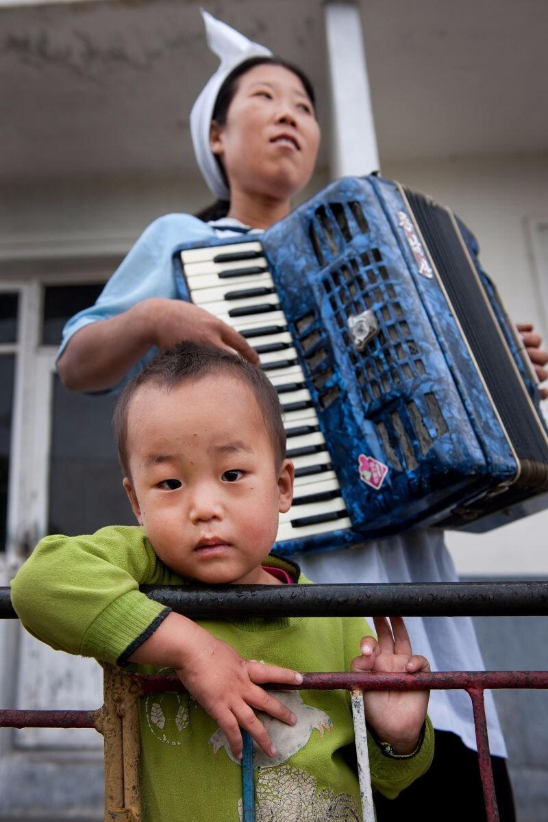 Scene at a nursery school. Kangwon Province, North Korea   Mark Edward Harris