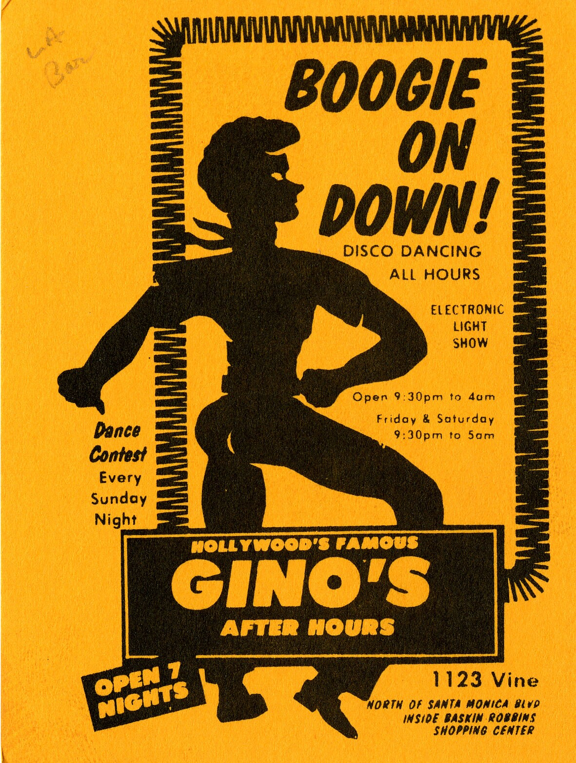 Boogie on Down to Gino's