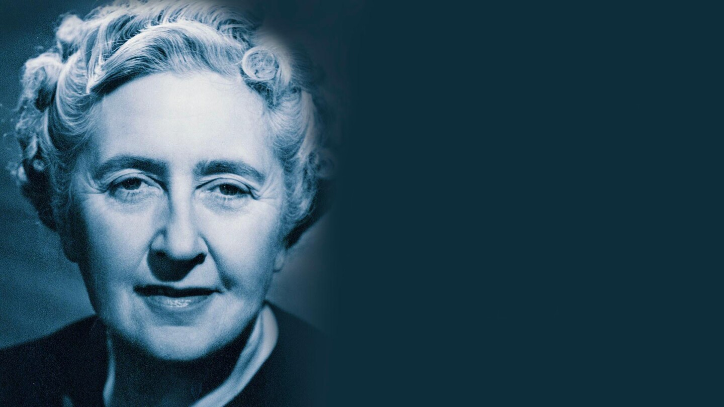 Portrait of Agatha Christie.