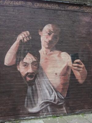 Cosmo Sarsen (London, UK) 'David Goliath Selfie' at Shoreditch, London