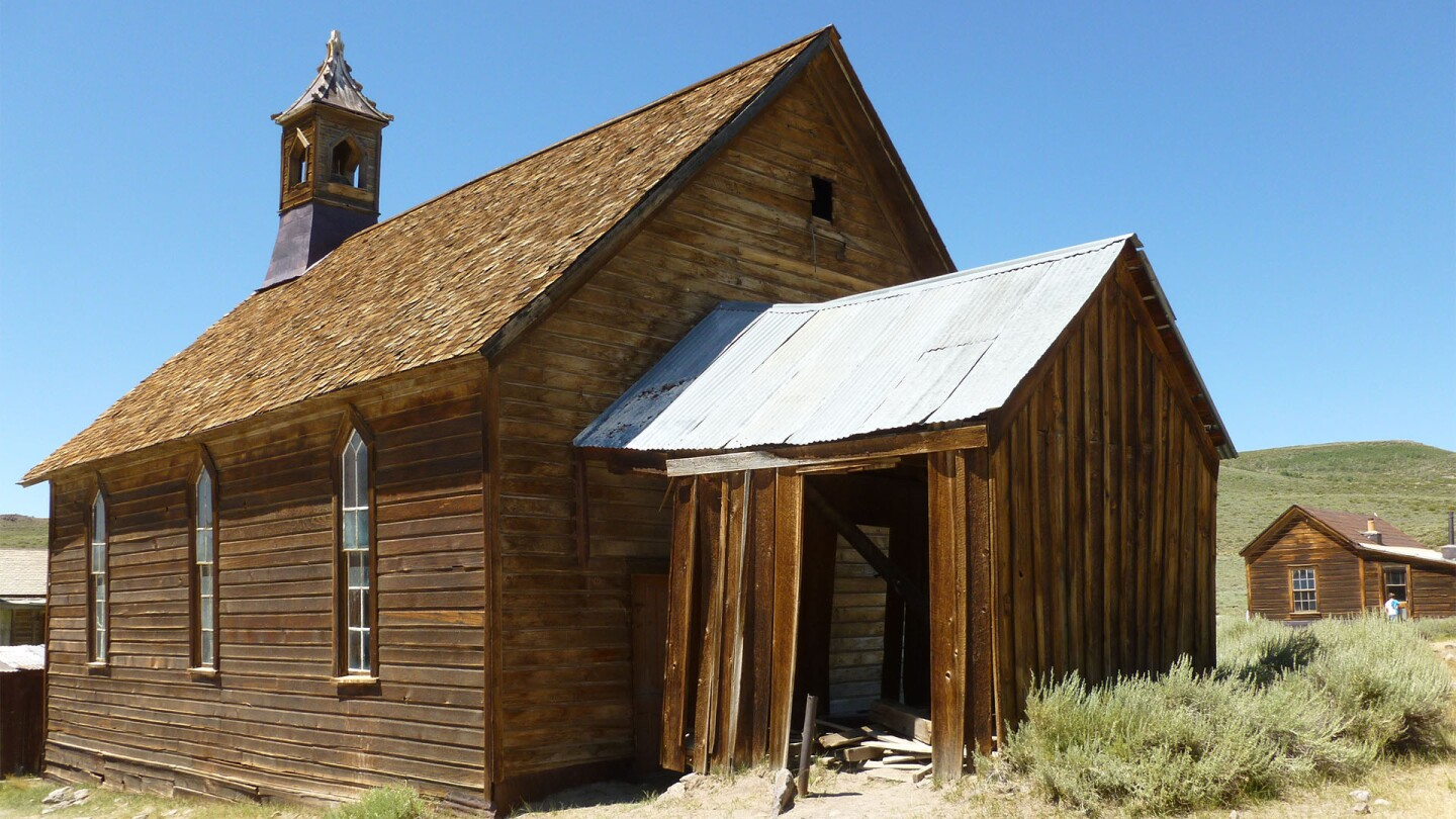 The Methodist church at Bodie | Sandi Hemmerlein