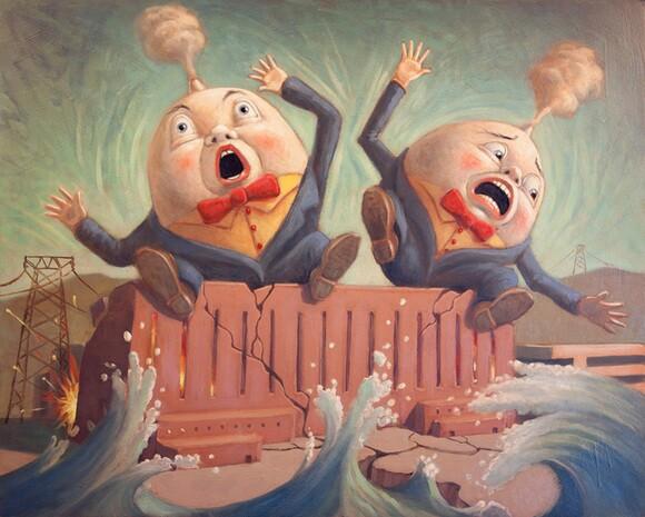 """Humpty and Dumpty""by Mark Bryan"