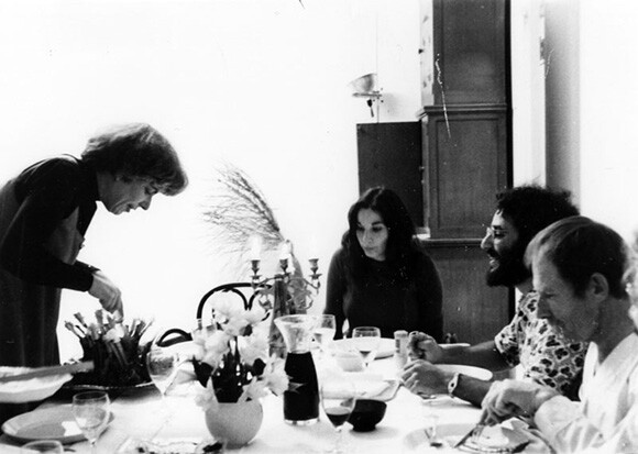 Mary Ann Danin with friends having  Thanksgiving  dinner in Venice. | Courtesy of the Los Angeles Public Library