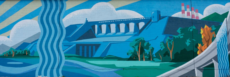 """Rushing Waters"" mural in Pacoima | Justin Cram"