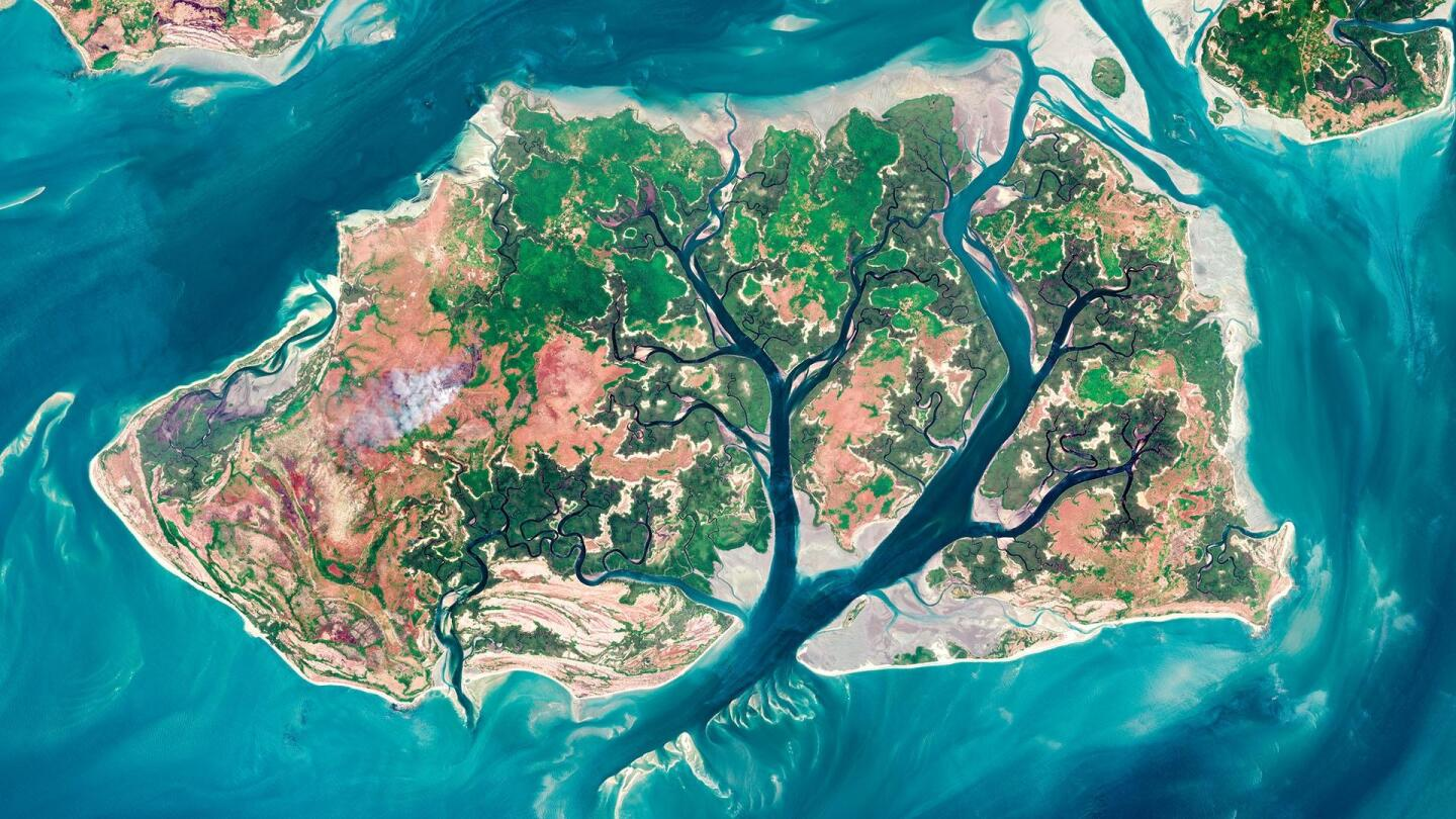 The weird and wonderful shapes that cover Earth's surface as seen from space.